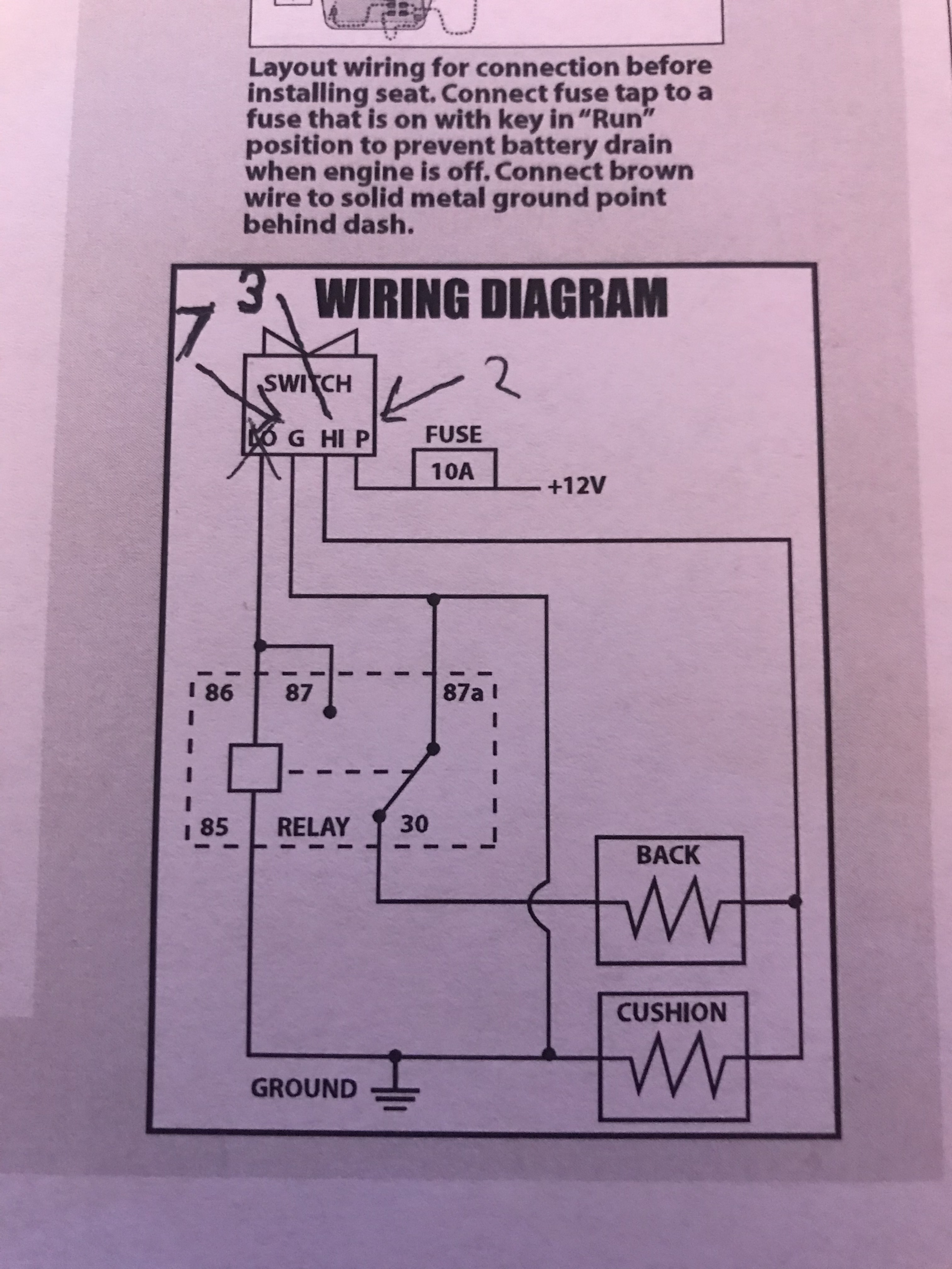 Wiring Help Please Heated Seats. Name 132 Views 416 Size 169 Mb. Seat. Heated Seat Relay Wiring Diagram At Scoala.co