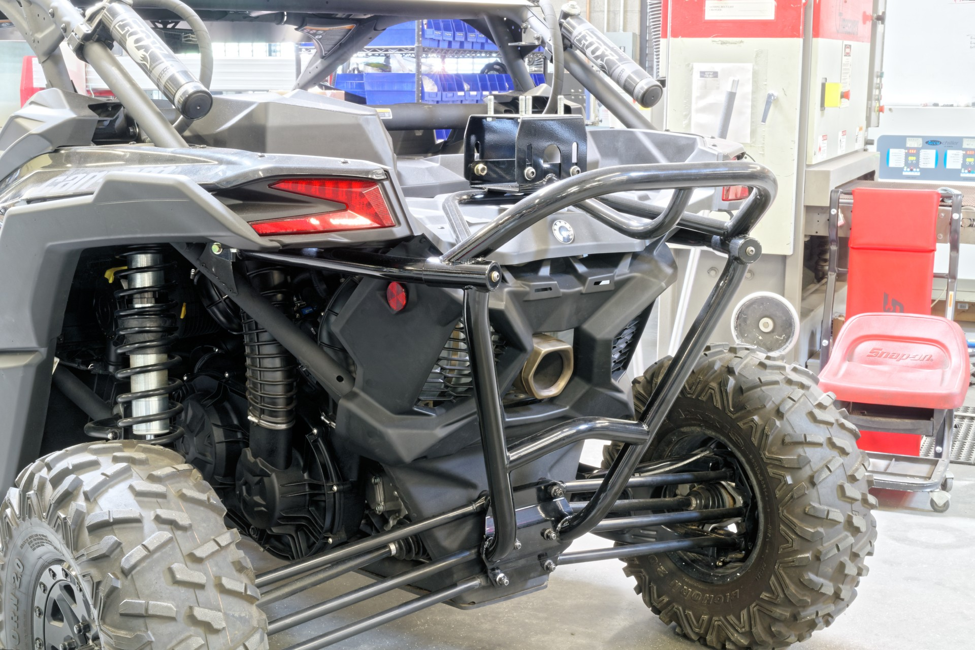 Utv inc can am maverick x3 rear bumper spare tire carrier ...