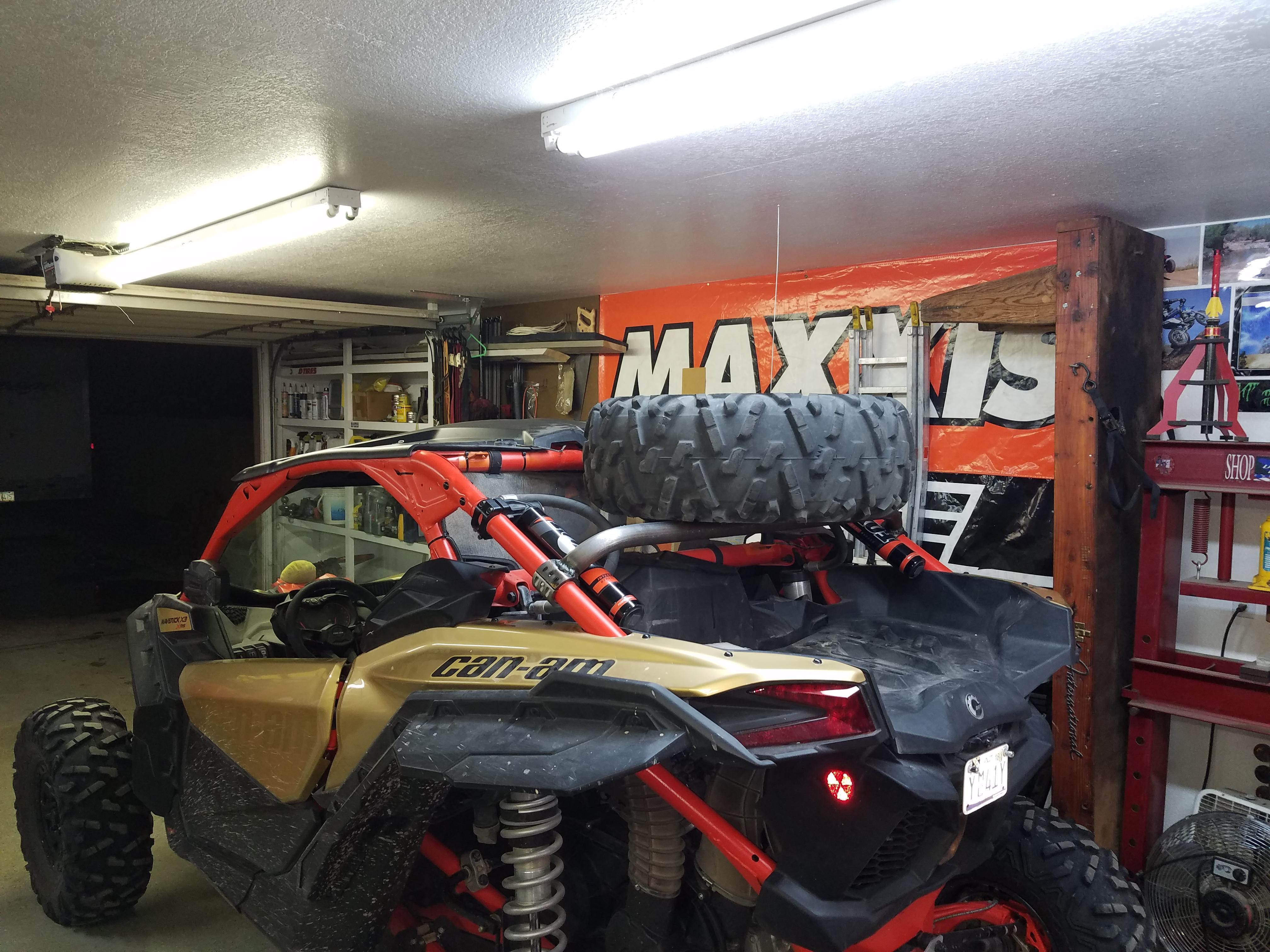 Homebuilt spare tire rack