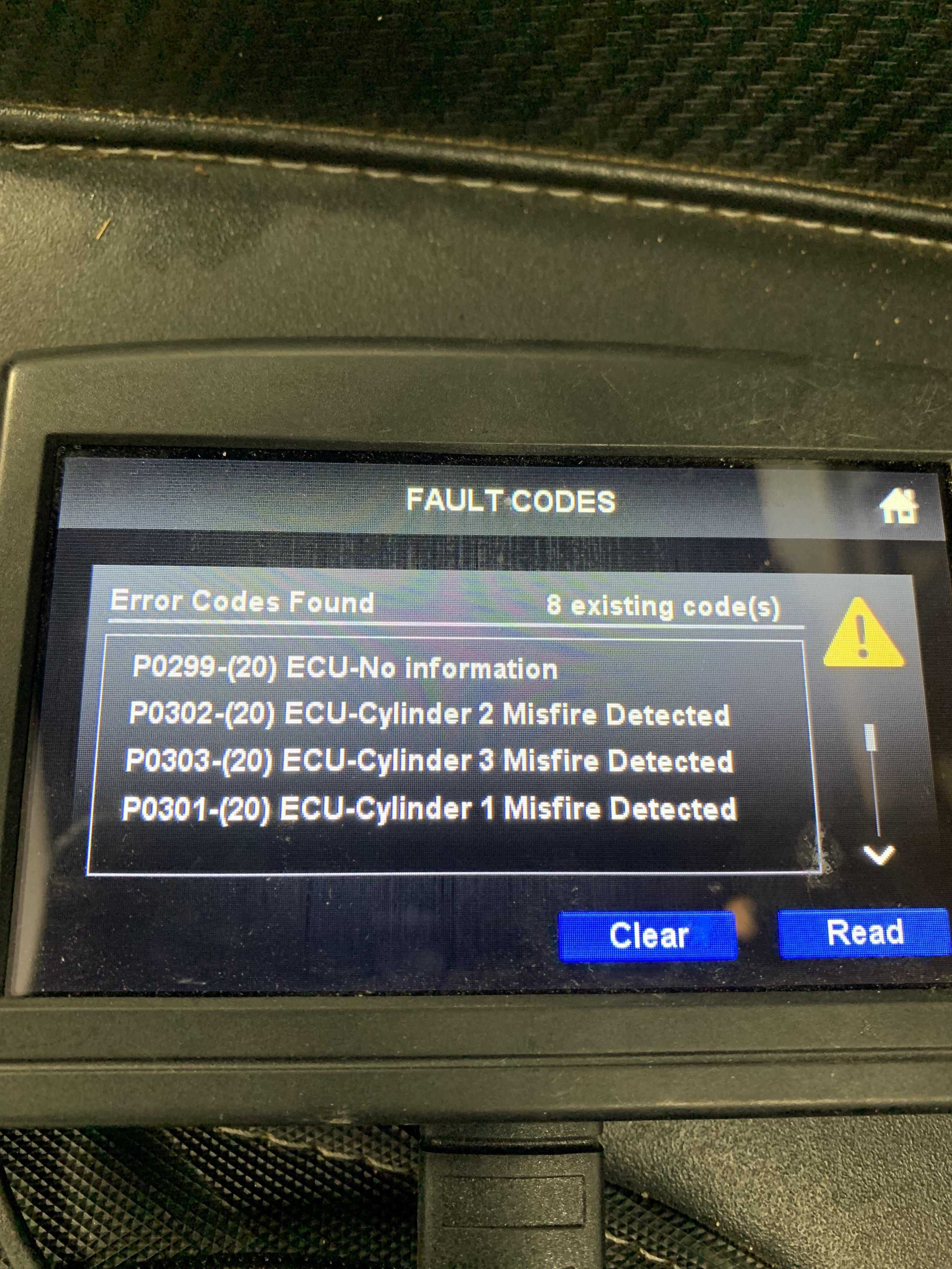 8 Check Engine light codes
