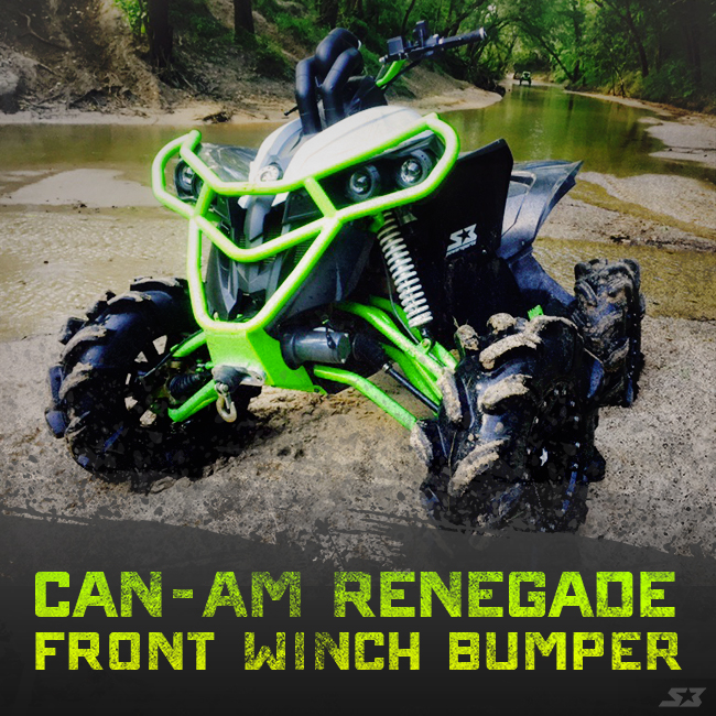 New Product Can Am Renegade Front Winch Bumper