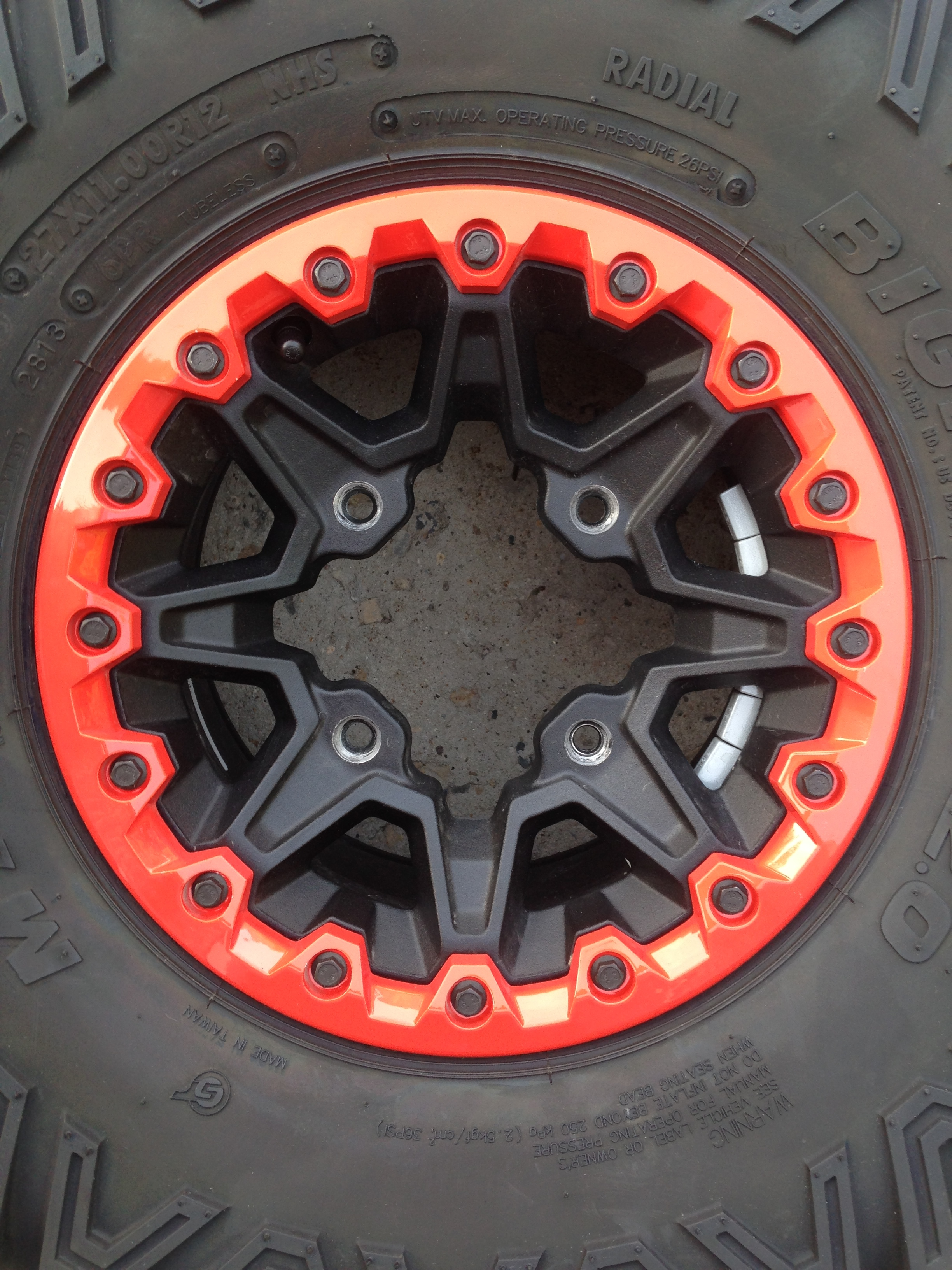 Red Wheel Weiser Online Bookstore: New Take Off Maverick XRS Beadlock (red) Wheels And Tires