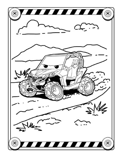 Can am coloring pages ~ UTV Jumbo Coloring and Activity book for kids