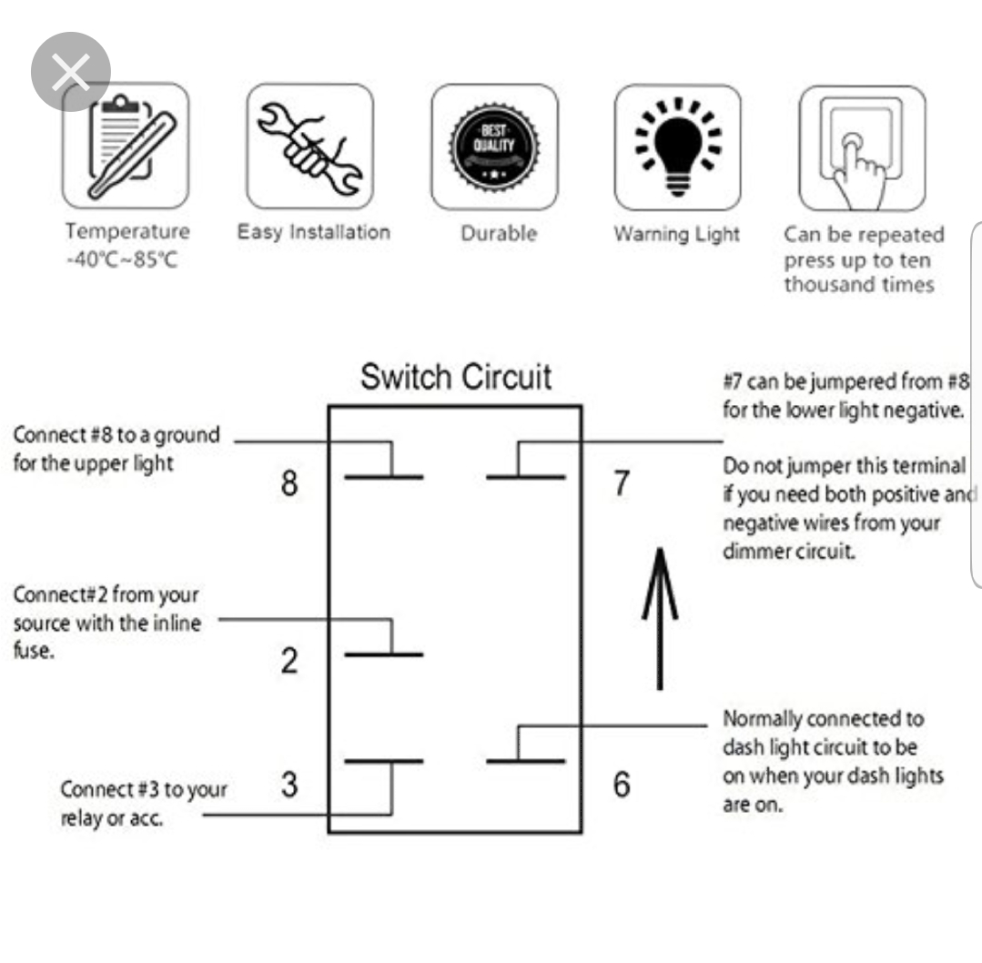 5 terminal rocker switch wiring diagram how to wire this switch can am maverick forum  can am maverick forum