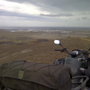 The town Grindavík. Where Atv Adventures is located.