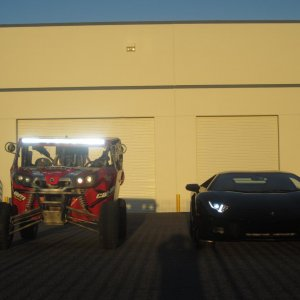Murray Motorsports and Lamborghini light show.