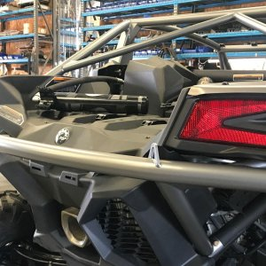 Can Am X3 Chromoly Single Bar Rear Bumper